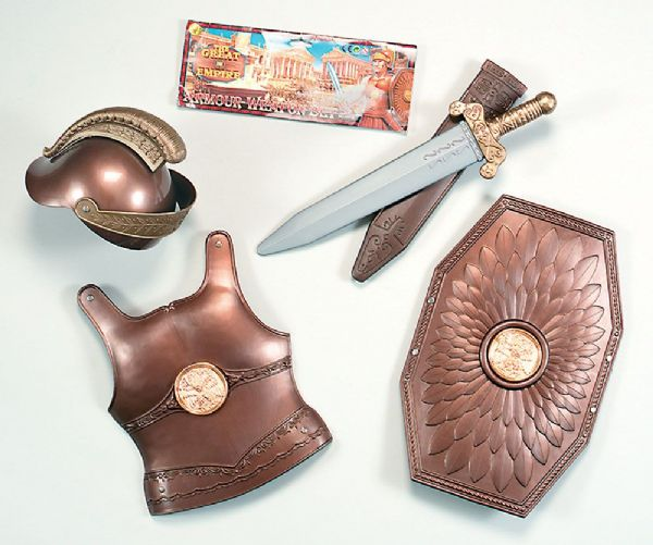Roman Armour Weapon Set Childs Ancient Rome Greek Latin Novelty Plastic Toy